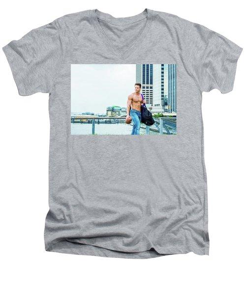 After Work Men's V-Neck T-Shirt
