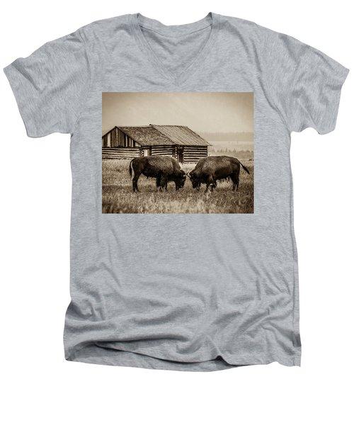 Age Old Conflict Men's V-Neck T-Shirt