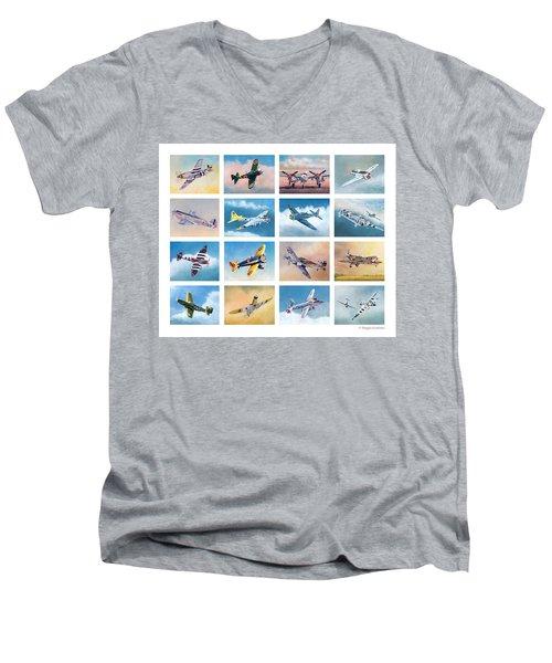 Airplane Poster Men's V-Neck T-Shirt