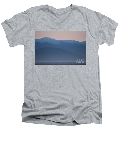 Alaska Inside Passage Mountains Men's V-Neck T-Shirt