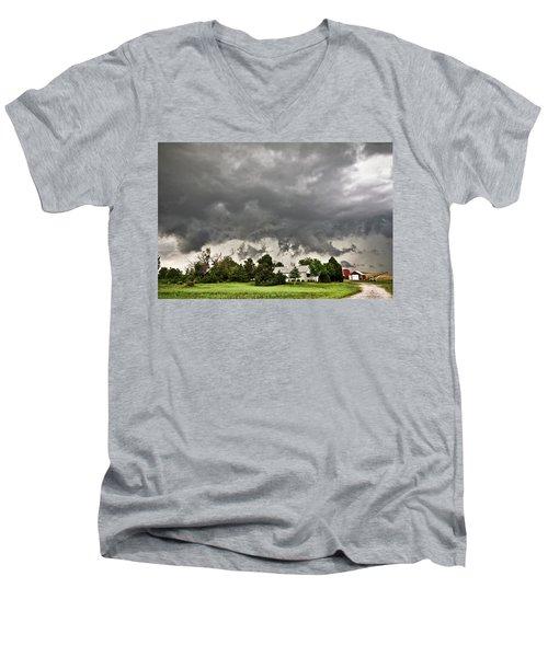 Alive Sky In Wyoming 2 Men's V-Neck T-Shirt
