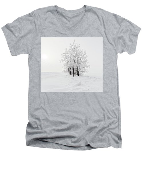 Alone On The Prairie Men's V-Neck T-Shirt