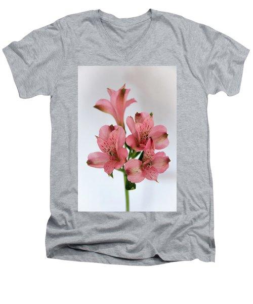 Alstroemeria Up Close Men's V-Neck T-Shirt