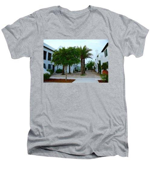 Alys Streetscape 2 Men's V-Neck T-Shirt