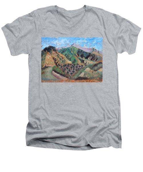 Amanda's Canigou Men's V-Neck T-Shirt