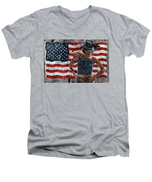 American Woman Men's V-Neck T-Shirt