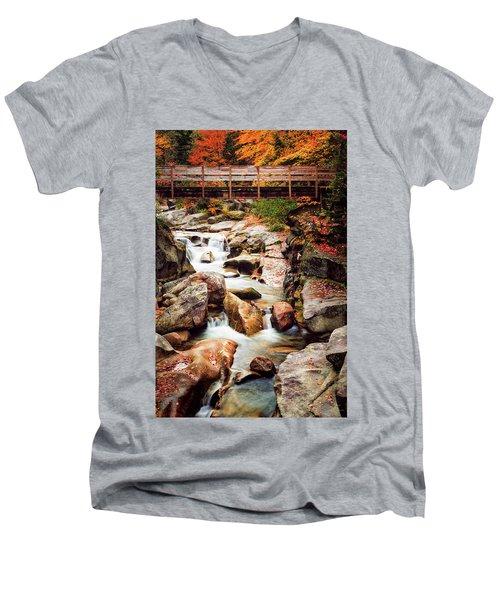 Ammonoosuc River, Autumn Men's V-Neck T-Shirt