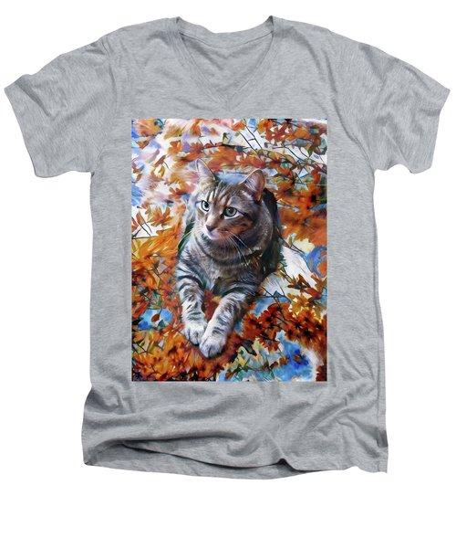 Amos In Flowers Men's V-Neck T-Shirt