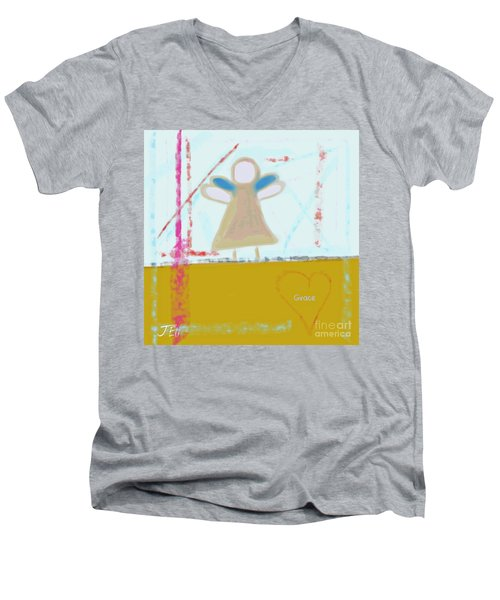 Angel Of Grace Men's V-Neck T-Shirt