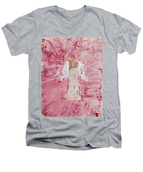 Angel Was Lost But Now Is Found  Men's V-Neck T-Shirt