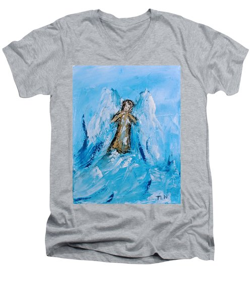 Angel With A Purpose Men's V-Neck T-Shirt