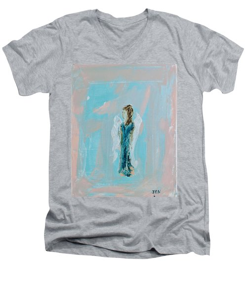 Angel With Character Men's V-Neck T-Shirt