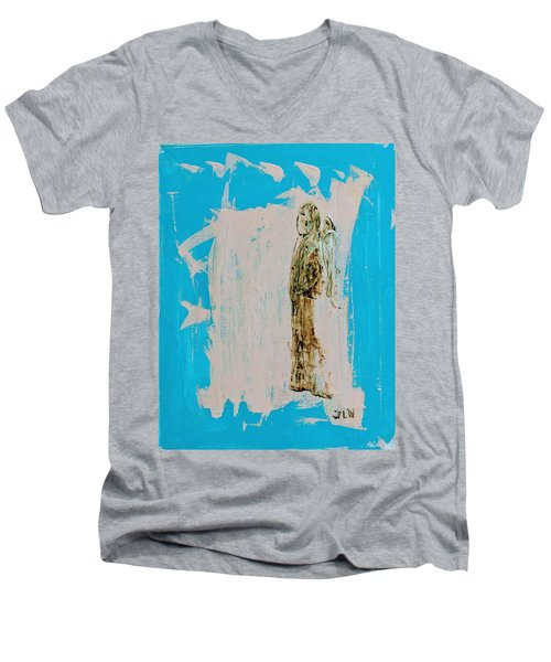 Angel With His Dog Wings Men's V-Neck T-Shirt