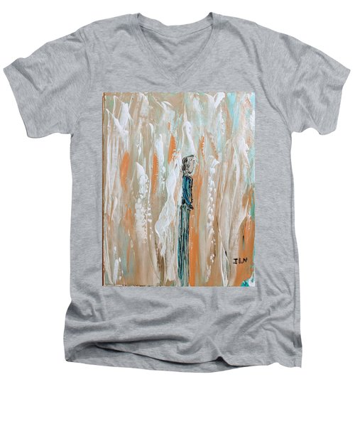 Angels In The Midst Of Every Day Life Men's V-Neck T-Shirt