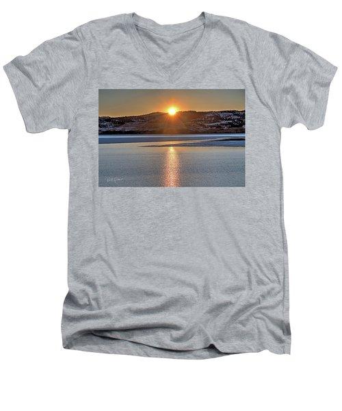 Men's V-Neck T-Shirt featuring the photograph Angostura Sunset by Bill Gabbert