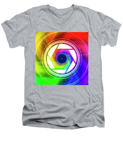 Aperature Men's V-Neck T-Shirt