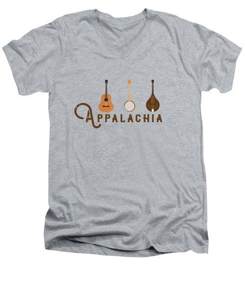 Appalachia Mountain Music White Mountains Men's V-Neck T-Shirt