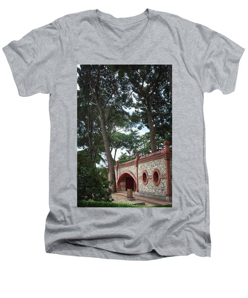 Architecture At The Gardens Of Cecilio Rodriguez In Retiro Park - Madrid, Spain Men's V-Neck T-Shirt