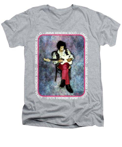 Jimi Hendrix Solo Men's V-Neck T-Shirt