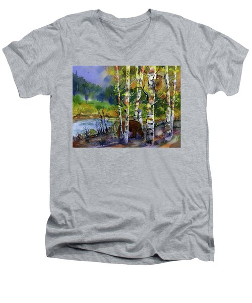 Aspen Bears #2 Men's V-Neck T-Shirt