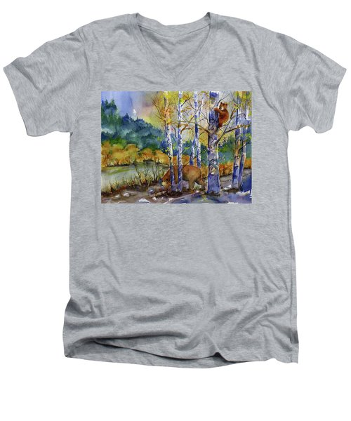 Aspen Bears At Emmigrant Gap Men's V-Neck T-Shirt