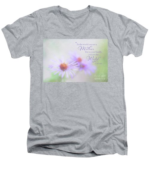 Asters For Mother's Day Men's V-Neck T-Shirt