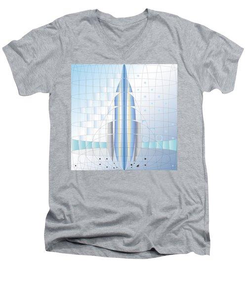 Atomic Rocket Men's V-Neck T-Shirt