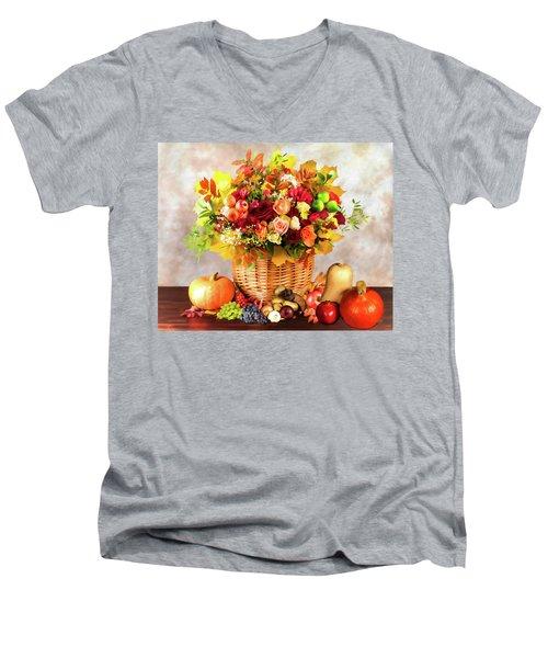 Autum Harvest Men's V-Neck T-Shirt