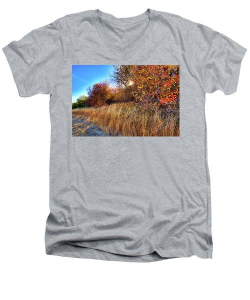 Men's V-Neck T-Shirt featuring the photograph Autumn At Magpie Forest by David Patterson