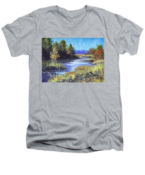 Autumn Brook Skech Men's V-Neck T-Shirt