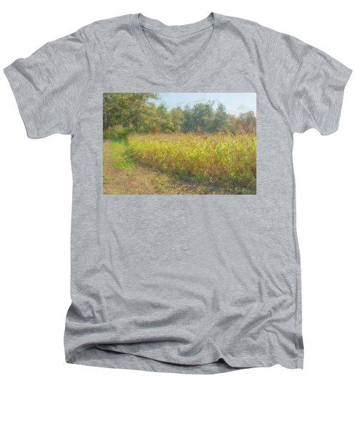 Autumn Field In Sunlight Men's V-Neck T-Shirt