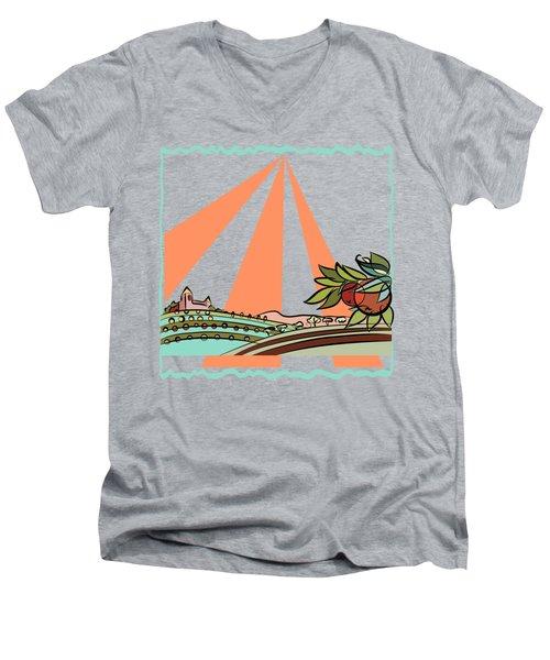 Autumn Harvest Illustration 2 Men's V-Neck T-Shirt