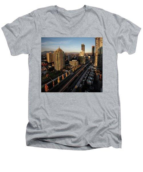 Autumn In Burnaby Men's V-Neck T-Shirt