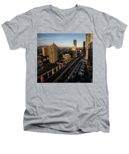 Autumn In Burnaby Men's V-Neck T-Shirt