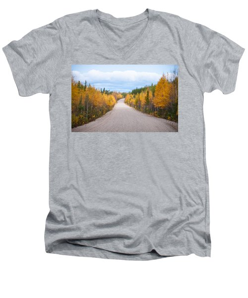Autumn In Ontario Men's V-Neck T-Shirt