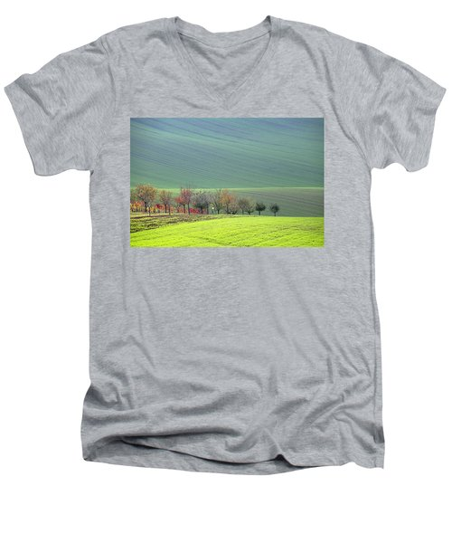 Autumn In South Moravia 18 Men's V-Neck T-Shirt