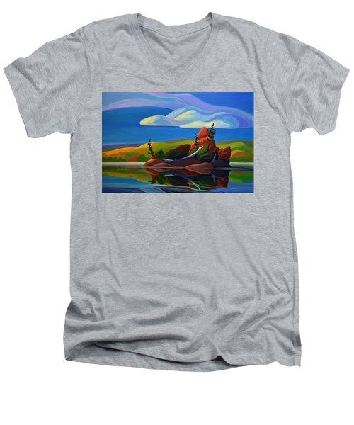 Autumn Island Men's V-Neck T-Shirt