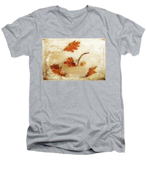 Men's V-Neck T-Shirt featuring the photograph Autumn Twist by Randi Grace Nilsberg