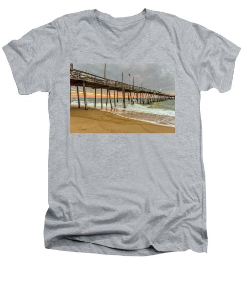 Avalon Pier - Kill Devil Hills Nc Men's V-Neck T-Shirt