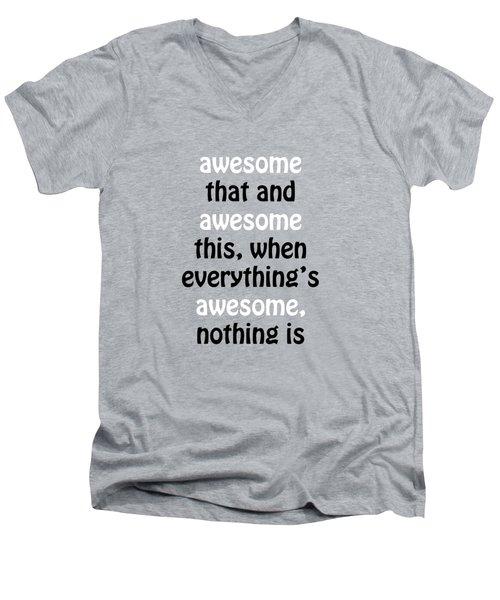 Awesome Shirt Men's V-Neck T-Shirt