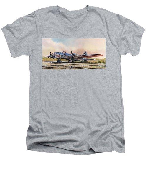 B-17g Sentimental Journey Men's V-Neck T-Shirt