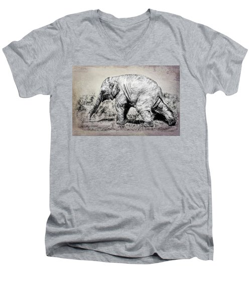Baby Elephant Walk Men's V-Neck T-Shirt