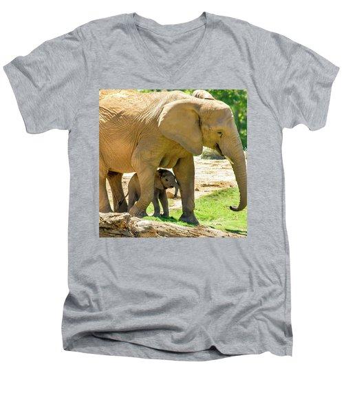 Baby's Safe House Men's V-Neck T-Shirt