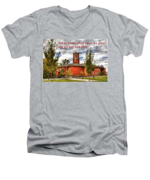 Men's V-Neck T-Shirt featuring the photograph Back Home by David Patterson