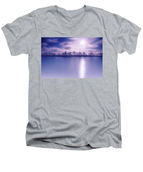 Back To The Moon Men's V-Neck T-Shirt