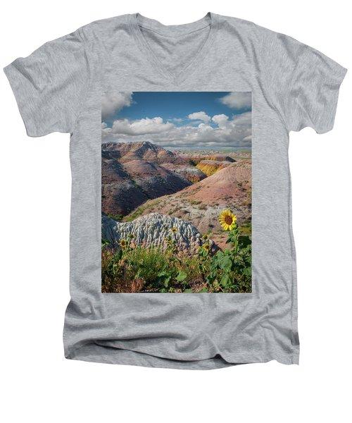 Badlands Sunflower - Vertical Men's V-Neck T-Shirt
