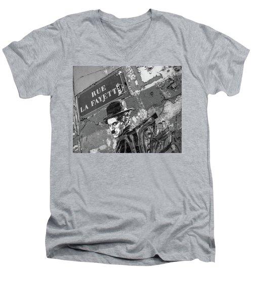 Banksy Rue La Lafayette Men's V-Neck T-Shirt