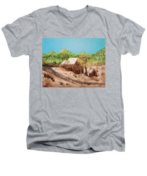 Barn On The Hill Men's V-Neck T-Shirt