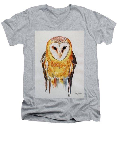 Barn Owl Drip Men's V-Neck T-Shirt