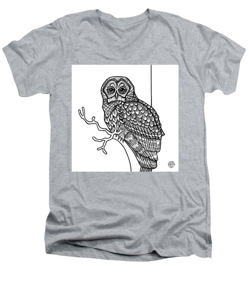 Barred Owl Men's V-Neck T-Shirt